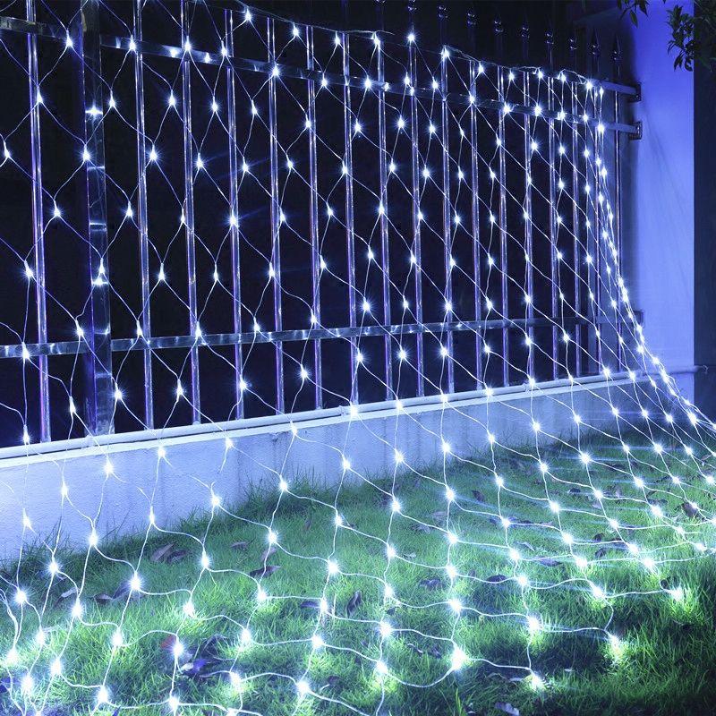 新しい3M * 3Mネットライト400 LEDネットメッシュ装飾的な妖精ライトきらめきクリスマス結婚披露宴EU / US / UK / AU 110-240V UK EU AUプラグ