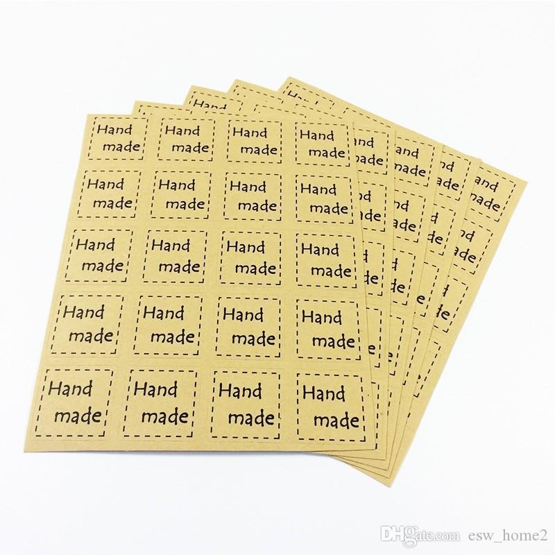 2000 adet / grup DIY Scrapbooking Kraft Sızdırmazlık Çıkartmalar Kağıt El Sanatları El Yapımı Etiketleri Ambalaj Zarflar Çanta Sticker
