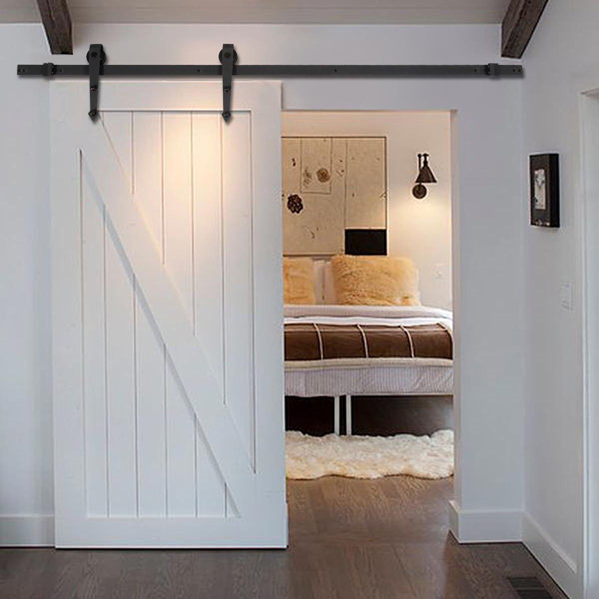 6 جديد أسود الحديثة العتيقة نمط انزلاق الأبواب الخشبية الشونة الأجهزة الحجرة مجموعة