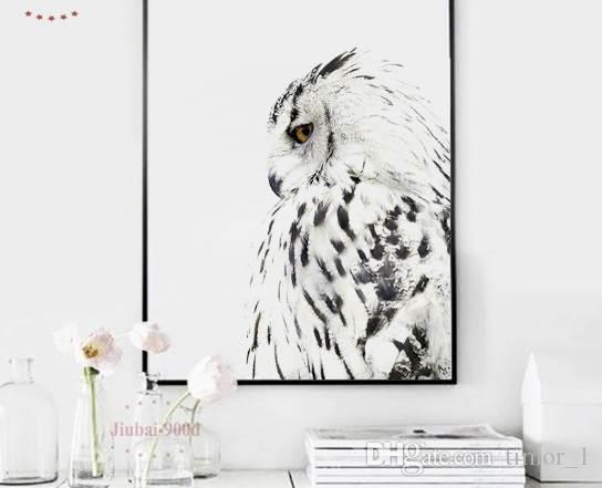 900D Poster e stampe Wall Art Canvas Painting Immagini a parete per soggiorno Nordic Owl Decoration NOR026
