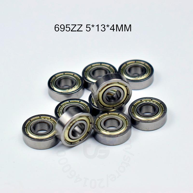 695ZZ ABEC-5 rolamentos 10pcs metal Seal Miniature Bearing695 695Z 695ZZ aço cromado 5 * 13 * 4 mm rolamento profundo do sulco