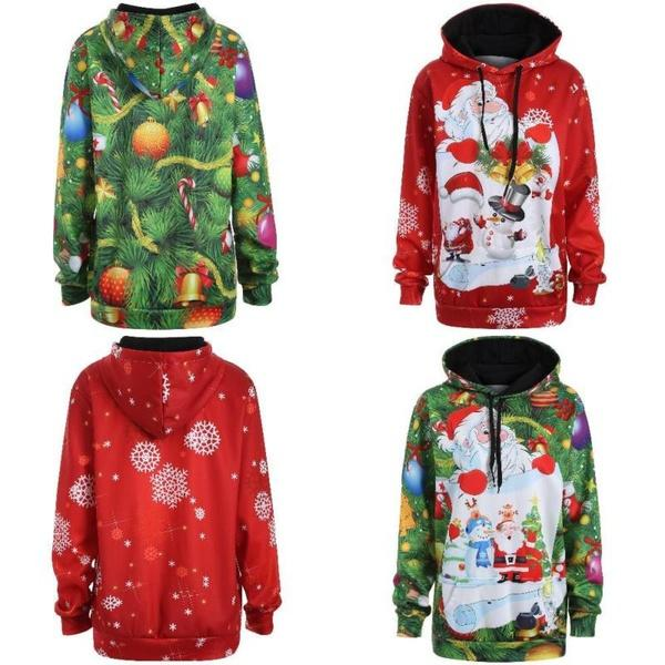 Christmas Tops For Women.2019 Newest Autumn Winter Coat Merry Christmas Tops Women Sweatshirts Funny Santa Claus Snowman Print Sweater From Criesinadistance Price