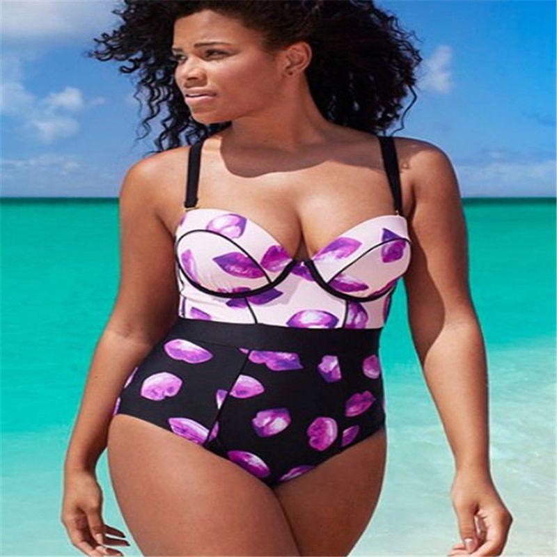 Sexy Plus Size Swimwear One Piece Swimsuit Women Fashion Beachwear Push up Swimming Jumpsuit Bathing Suit Ladies Cheap Monokini Swim Wear