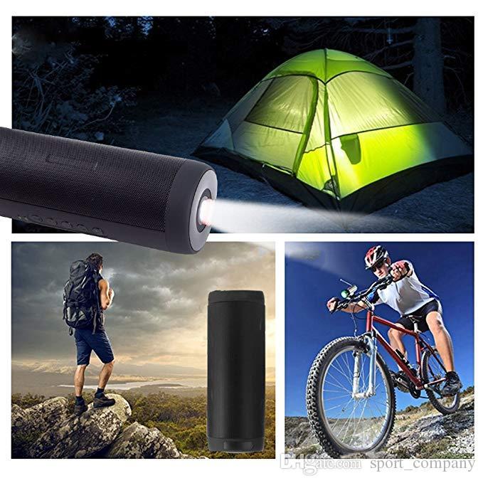 Nova ao ar livre bluetooth speaker handsfree amplificador de áudio de casa falantes estéreo lanterna à prova d 'água esporte alto-falantes de altifalantes de graves