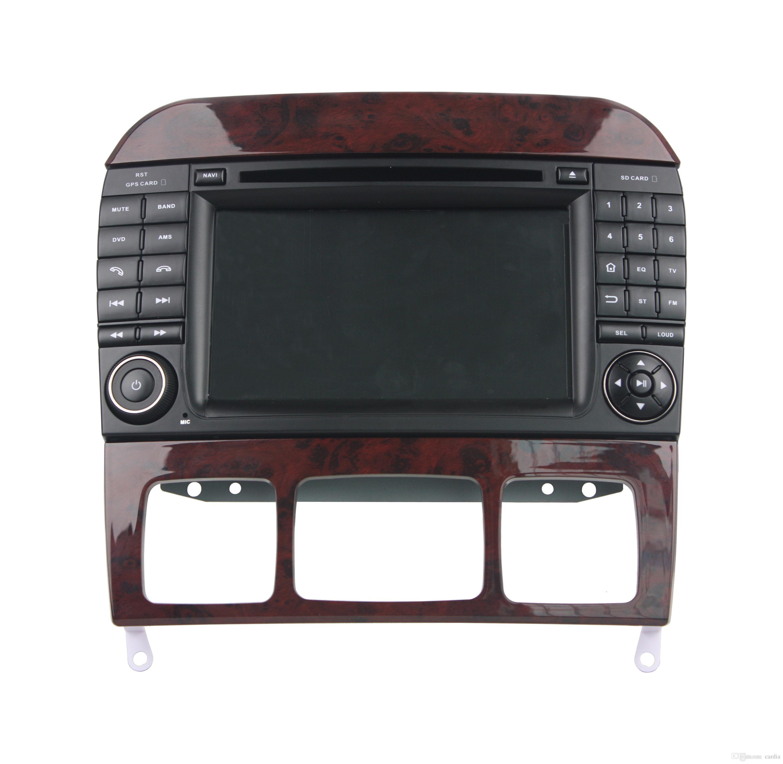 GPS를 가진 벤츠 S 종류 W220 / S280 / S320 / S350 7Inch Octa 중핵 Andriod 8.0를위한 차 DVD 플레이어, 핸들 통제, 블루투스, 라디오