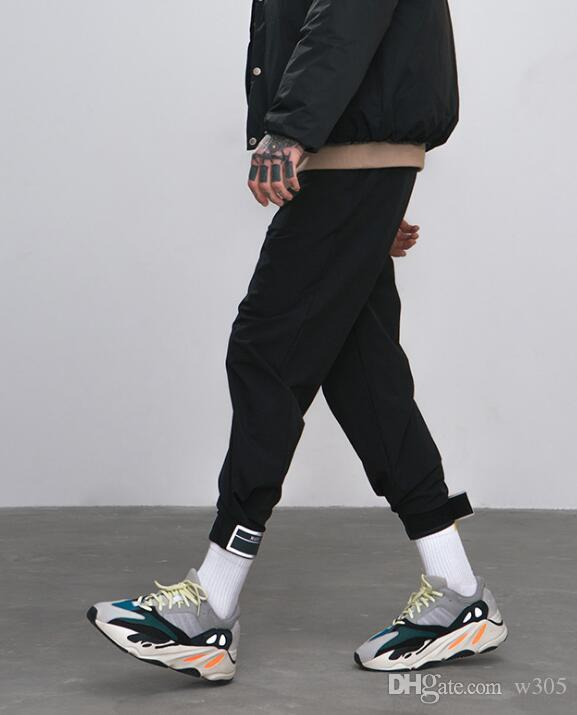 Tide brand new trend street shooting youth fashion men's sports pants hip hop wind men's casual pants Cargo Pants