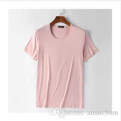 Ropa de verano Heavy Streetwear sólido algodón de bambú para hombre camisetas Depeche modo estilo marca camiseta Homme Slim camiseta