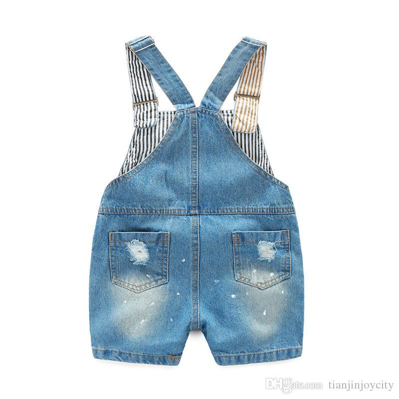denim jumper shorts for kids