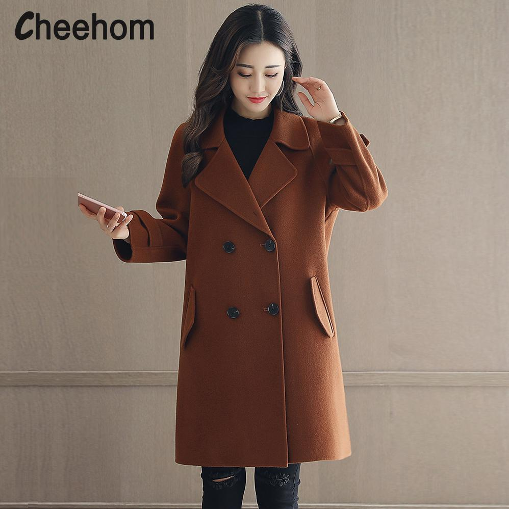 exceptional range of styles and colors elegant and graceful pretty nice 2019 2017 Autumn And Winter Wool Coat Womens Long New Double Breasted Wool  Coats Caramel Korean Woolen Blends Casaco White Rice Woman From Motoshop,  ...