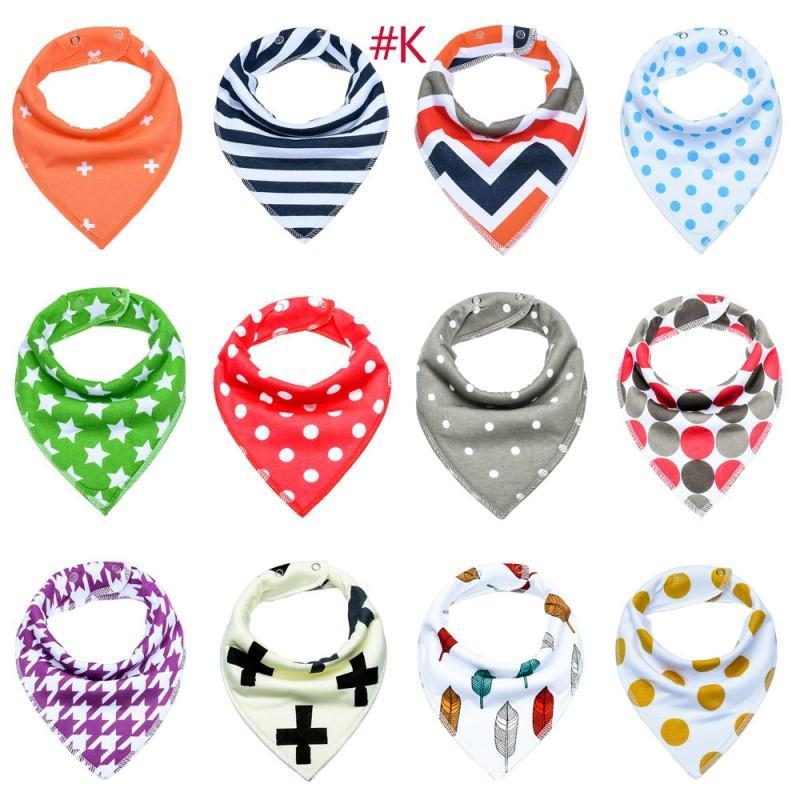 Baby INS Fox Bibs Burp Cloths 132 Designs Bandana Infant Saliva Cloth INS Triangle Bibs Newborn Cartoon Baby Bibs Newborn Burp Cloths YZDP0