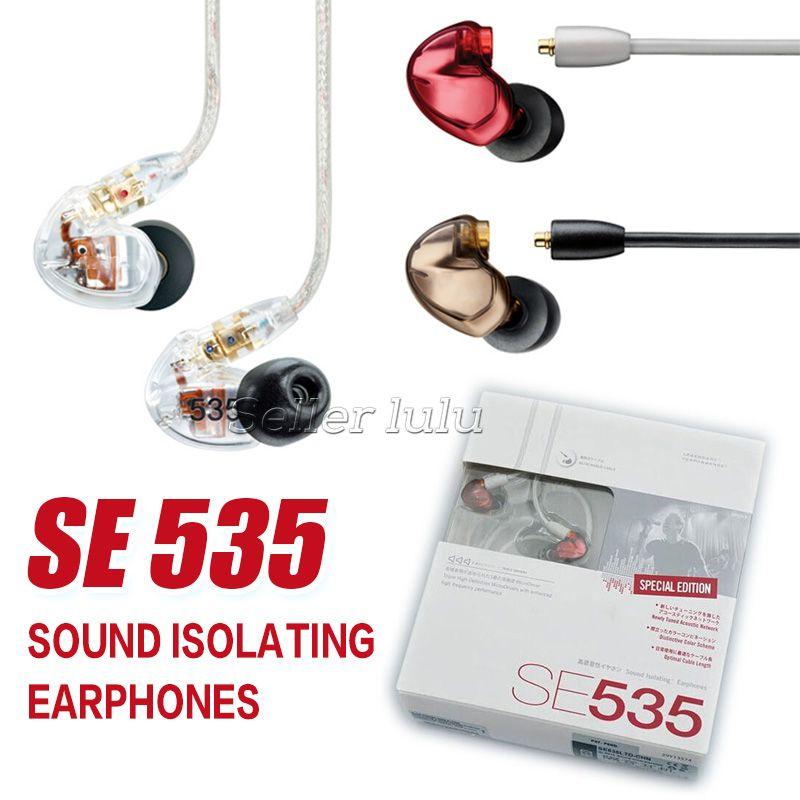 SE535 Fones de ouvido de ALTA FIDELIDADE de Ouvido Noise Cancelling Headsets Handsfree Com Microfone SE535 Edição Especial Com Caixa De Varejo