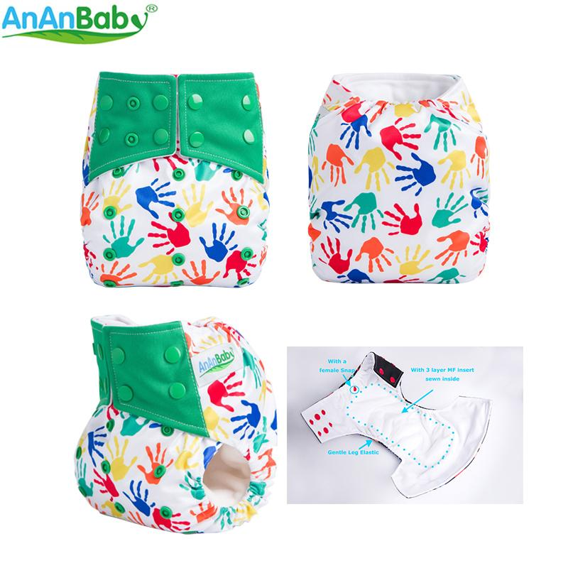 Ananbaby All In One Baby Pocket Diaper Waterproof Cloth Diaper 2018
