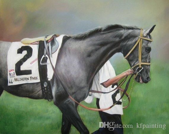 100% handmade canvas horse racing oil paintings reproduction good quality custom painting for living room bedroom home decoration
