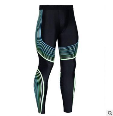 Sports pants summer new yoga pants men's trousers Streamer printing solid color high strength elastic tight