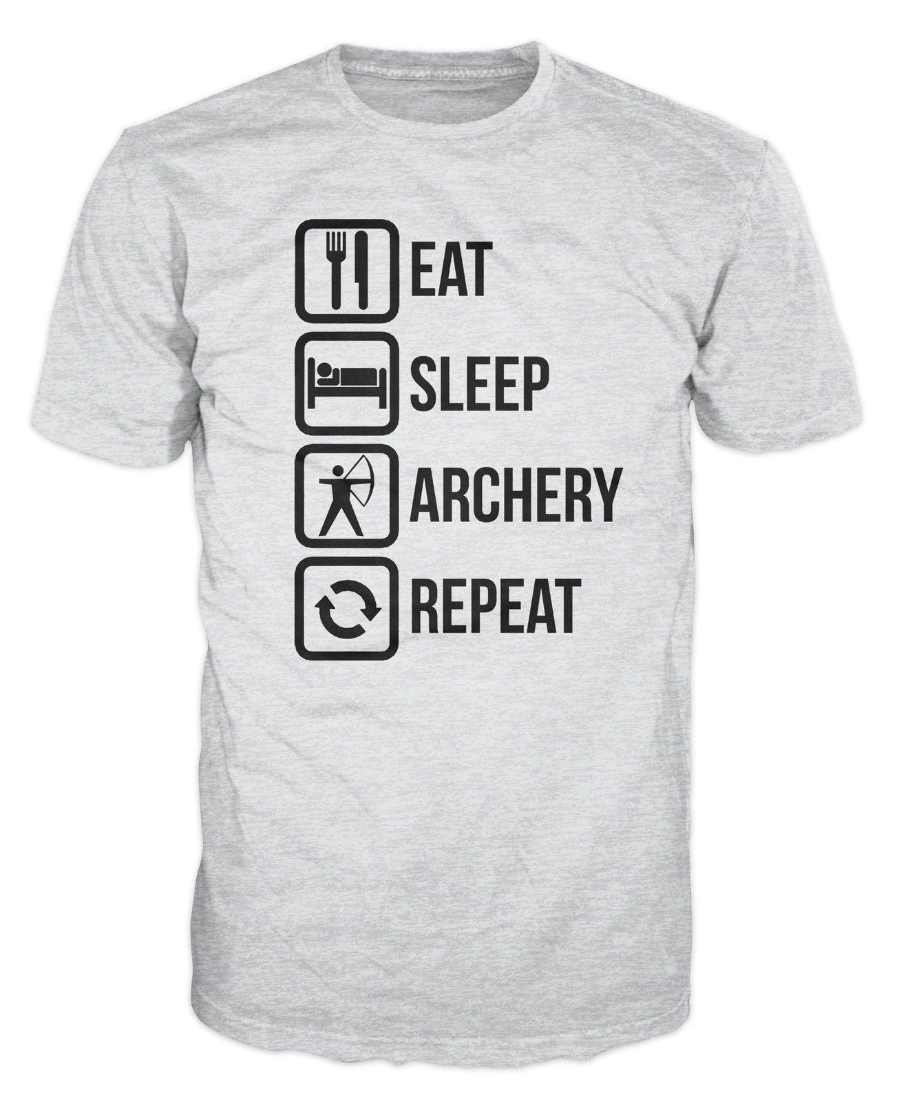 Eat Sleep Archery Funny Novelty Hoodie Hoody hooded Top
