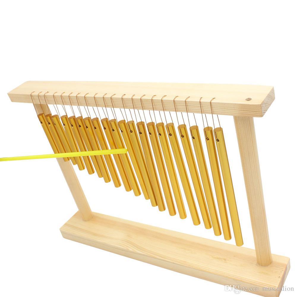 Fábrica al por mayor instrumentos de percusión 20 tonos viento campana marco de madera maciza tubo de cobre sólido Gran cantidad y ventaja
