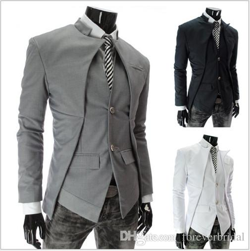 Hot New Brand Men British Style Slim Suits Mens Stylish Design Blazer Casual Business Fashion Jacket Men's Clothing Simple Outdoor Wear