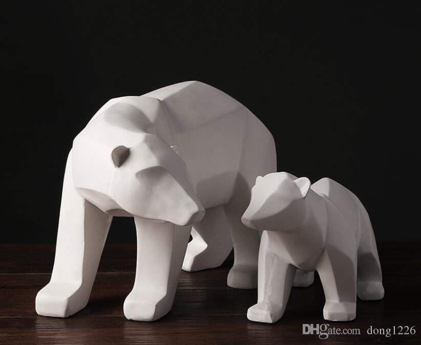 2021 Resin Geometry Abstract Polar Bear Figurines Home Decor Crafts Room Decoration Objects Vintage Ornament Resin Animal Figurines From Dong1226 50 5 Dhgate Com