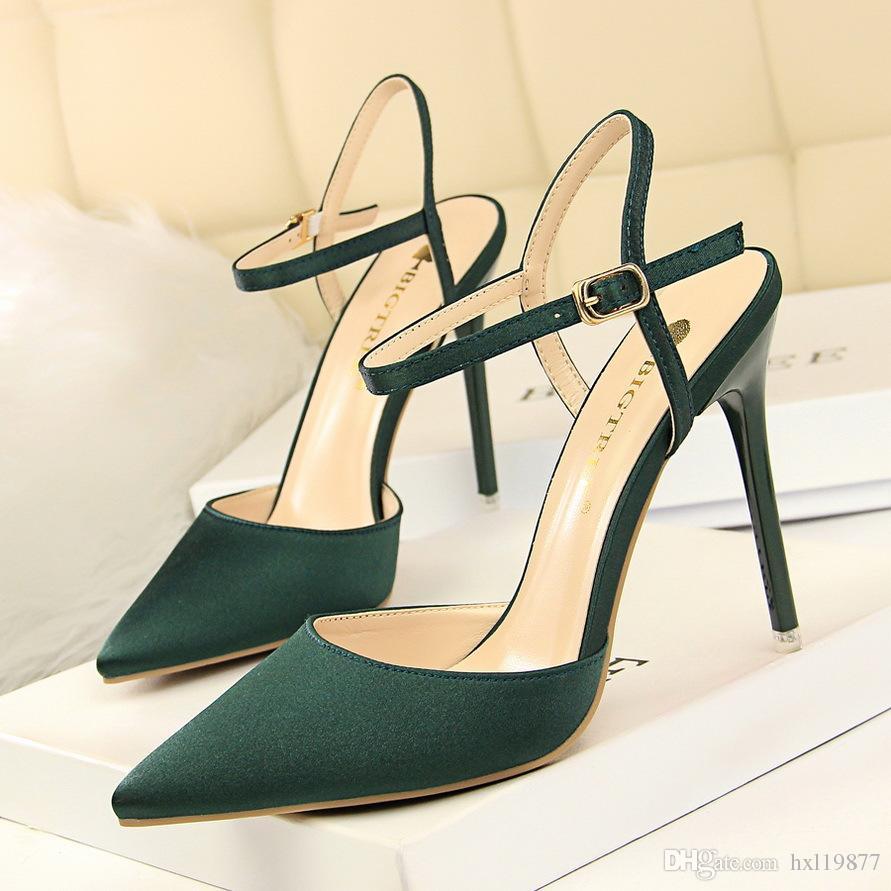 Новый летний BIGTREE элегантная обувь женщина сандалии европейская мода высокие каблуки обувь на высоком каблуке женщины на каблуках сексуальные сандалии 86-2