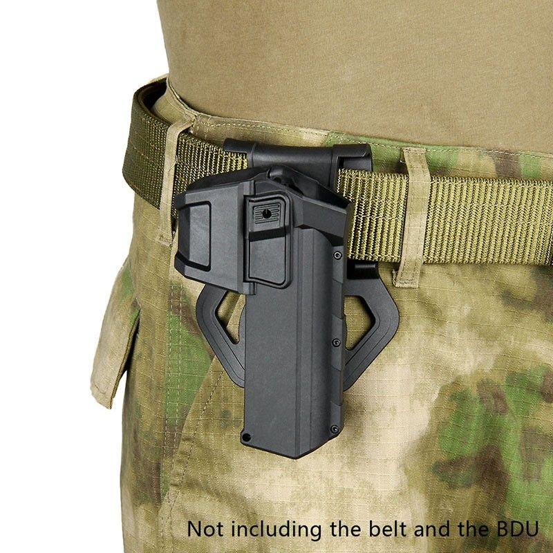 الحافظات المسدس المنقولة ل G17 G18 مع المصباح أو الليزر G سلسلة قفل اليد اليمنى الخصر بندقية الحافظة جبل