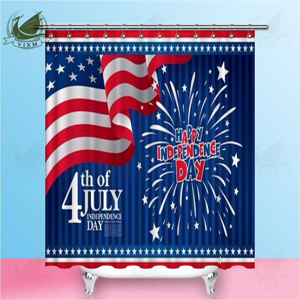 Vixm We Will Not Forget The American Flag Map Shower Curtains Polyester Fabric Curtains For Home Decor