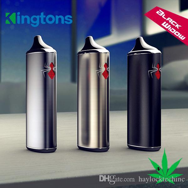 Kingtons Black Widow Dry Herb Vaporizer Smoke Vape Kit 3 in 1 Herbal Vaporizer e cig Vape Pen in Stock Free Shipping
