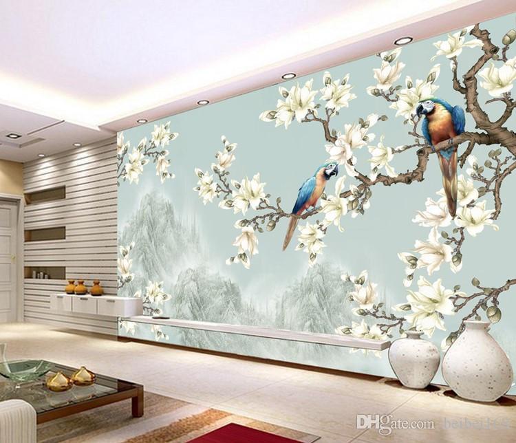 Großhandel Fototapete 3D Stereo Chinesische Blumen Vögel Wandbild  Schlafzimmer TV Zurück Sofa Wohnzimmer Benutzerdefinierte Größe Von  Beibei168, ...