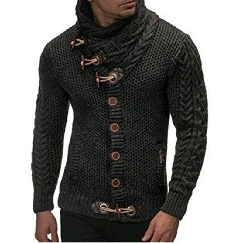 Nibesser سترة سترة معطف الرجال الخريف الأزياء الصلبة البلوزات عارضة الدافئة الحياكة البلوز سترة الذكور معاطف زائد الحجم 3xl Y1892109