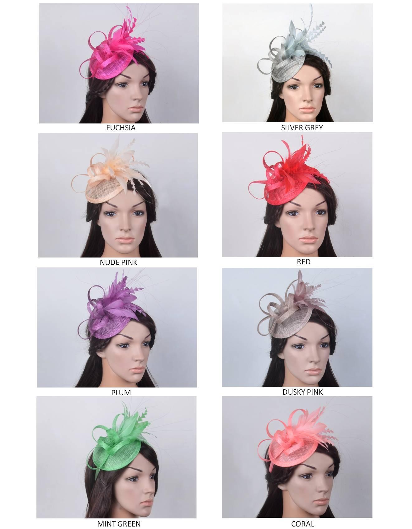 Yeni tasarım moda düğün, parti, kilise ve Kentucky Derby için tüy çiçekleri ile Sinamay Şapka düğün fascinator