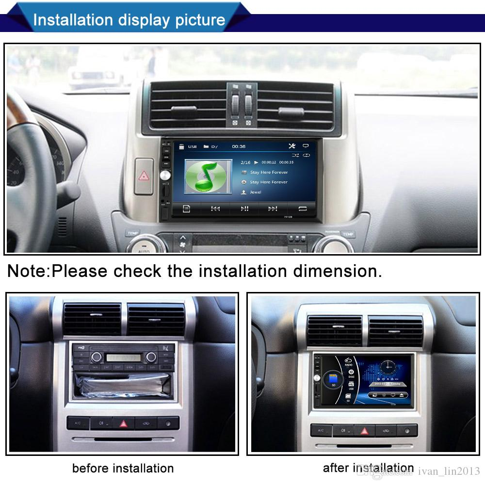 fast free shipping yentl 2 Din Car DVD 7 inch HD In Dash Touch Screen BluetoothCar Radio Player Stereo USB Touch Screen 2 DIN Car MP5 MP3