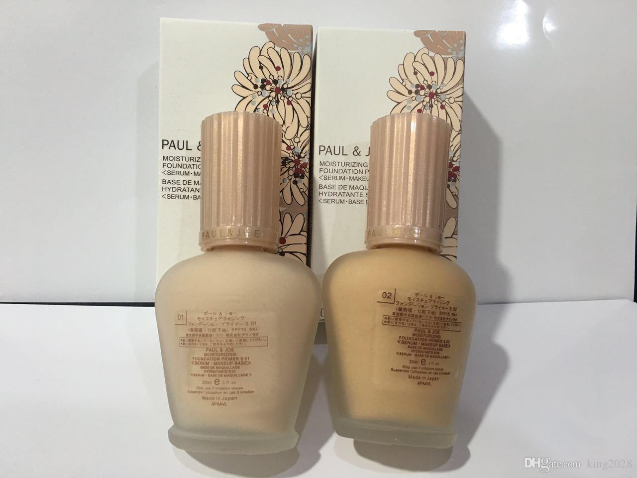 اليابان العلامة التجارية الشهيرة المينا pauljoe pj منعش تواجه الأساس السائل Luminous Primer 30ml 01 02 2color.