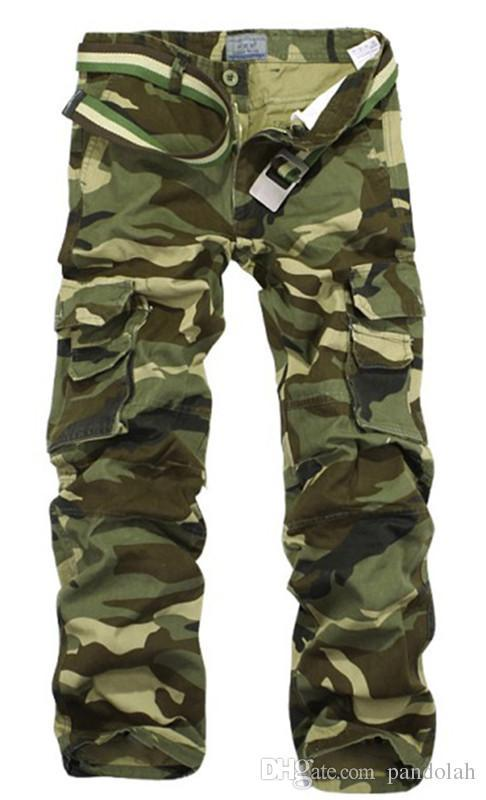 2017 Worker Pants CHRISTMAS NEW MENS CASUAL MILITARY ARMY CARGO CAMO COMBAT WORK PANTS TROUSERS SIZE 28-38