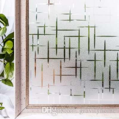 CottonColors Waterproof Window Privacy Films, Pegatinas de ventana decorativas estáticas sin adhesivo escarchadas Tamaño 60 x 200Cm