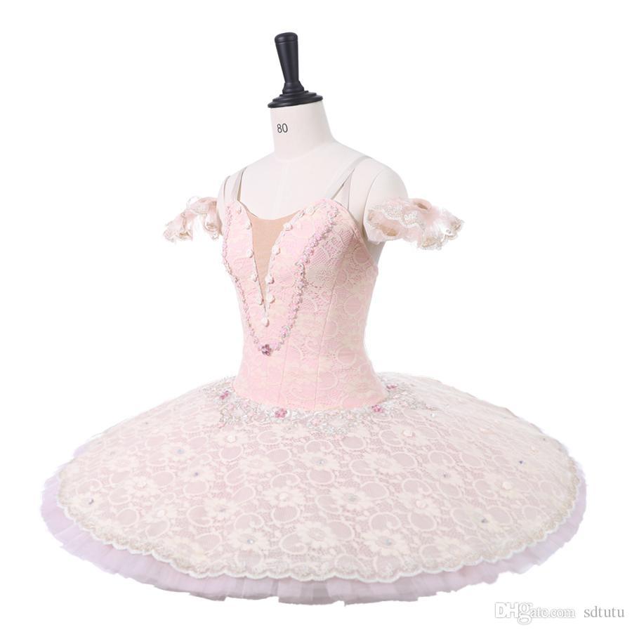 Mulheres Rosa Estágio Profissional Costumes Ballet Tutu Adulto Classical Ballet Dança Apperal Crianças Ballet saia vestido Crianças
