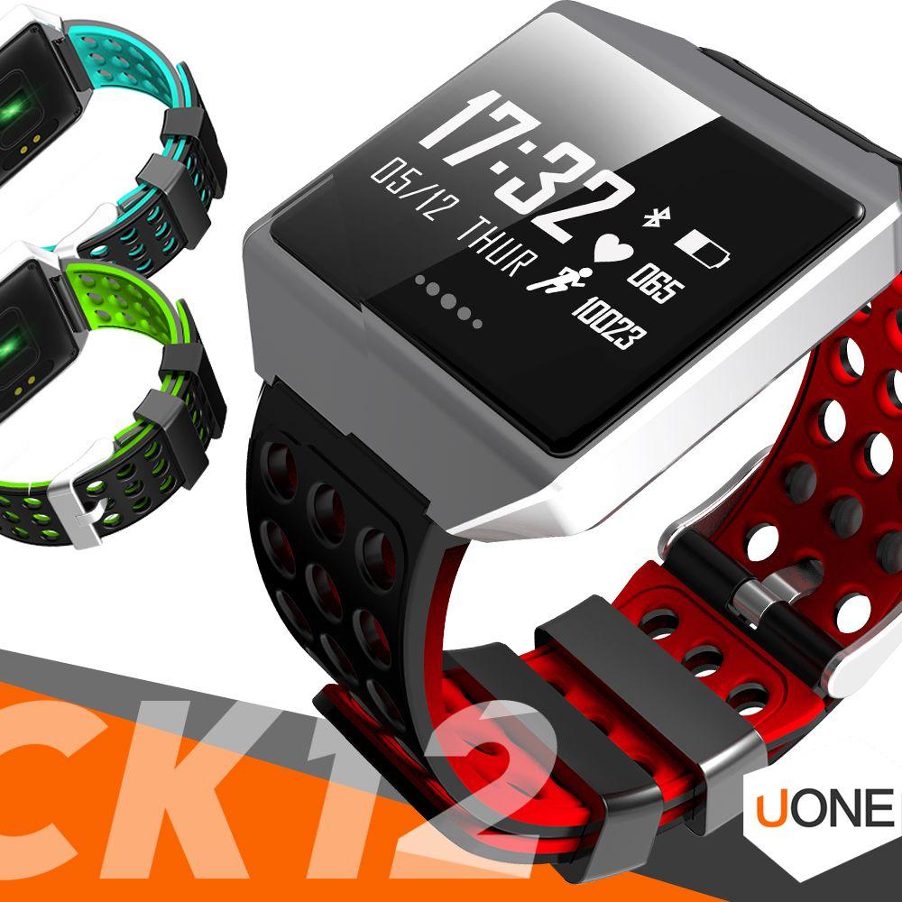 1 PC-CK12 Smart Watch FIX Fibit ionische Fitness Tracker Druck Herzfrequenz-Monitor-Sport wasserdichter Pedometer Armband für Android IOS