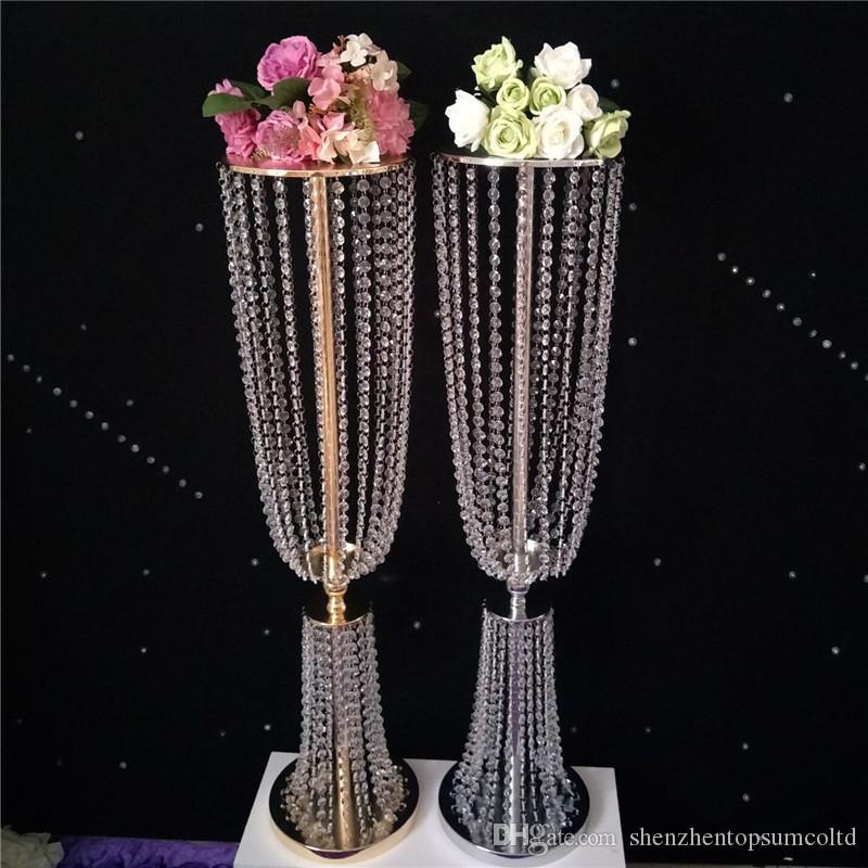 2 sztuk 80 cm wysoki akryl kryształowy ślub droga prowadzić ślub centerpiece wydarzenie dekoracja ślubna / impreza dekoracji na stole