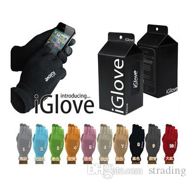 IGlove tela de toque capacitivo Luvas Unisex iGloves Luva de Inverno para Iphone 11 Pro X XS MAX XR entregas Toque Retail Package DHL