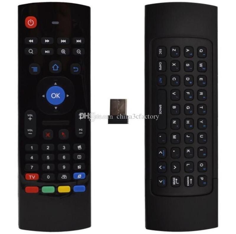MX3 Multifunction 2.4G Air Mouse Mini Wireless Keyboard & Infrared Remote Control & 3-Gyro + 3-Gsensor W USB Wireless Receiver