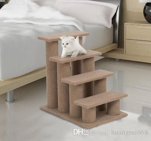 24  Cat Tree 4-Step Stairway Perch محبوب سلالم سلالم كلب منحدر سلم