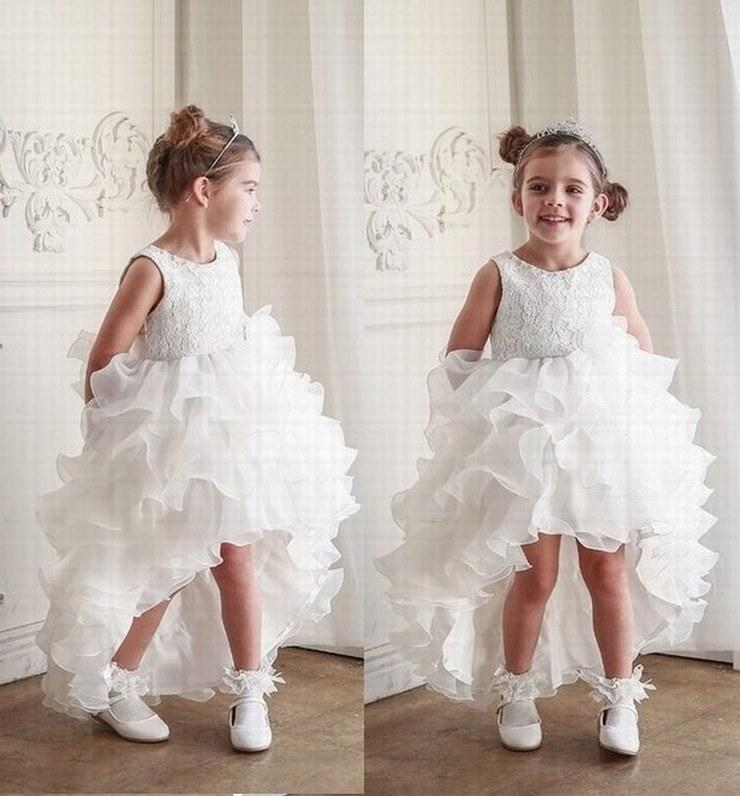 Charming Flower Girl Dresses Princess Pageant Kids Occasioni formali Bambini Dress Wedding Party Gown GHST102