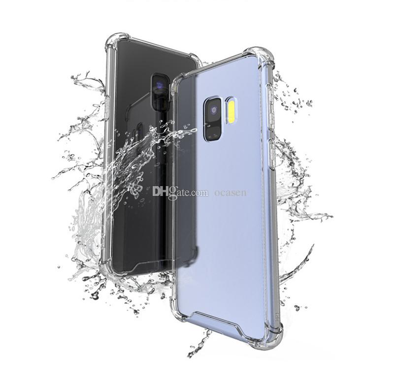 Transparent Shockproof Acrylic PC Back TPU Bumper Hybrid Case for Samsung S9 S9 Plus S7 S7 Edge S8 Note 8 A8 J7 J5 LG G5 Nokia 6 8 Huawei 7X