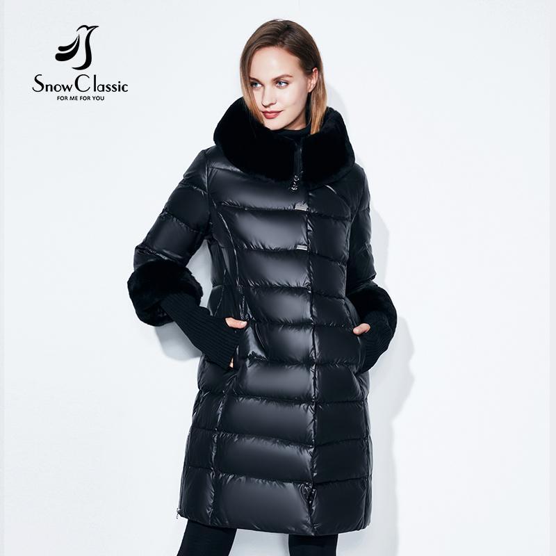 Compre Snowclassic Invierno Mujer Abrigo Chaqueta Acolchada Con ...