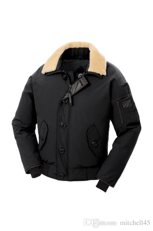 2018 Canada New Men's MEN Foxe Bomber DOWN JACKET parkas Hoodie Black Navy Gray Jacket Winter Coat/Parka With Free Shipping Outlet