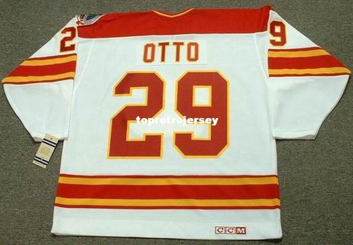2020 Wholesale Mens Joel Otto Calgary Flames 1989 Ccm Vintage Home Cheap Retro Hockey Jersey From Topretrojersey 30 52 Dhgate Com