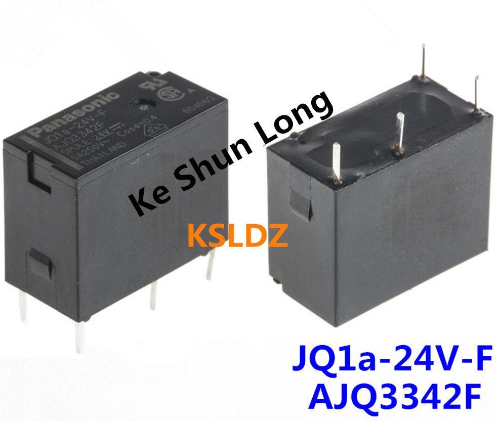Frete grátis lote (10 peças / lote) AJQ3342F JQ1A-24V-F JQ1A-24V AJQ3342 5A250V 4 PINOS 24 V Relé de Alimentação original Novo