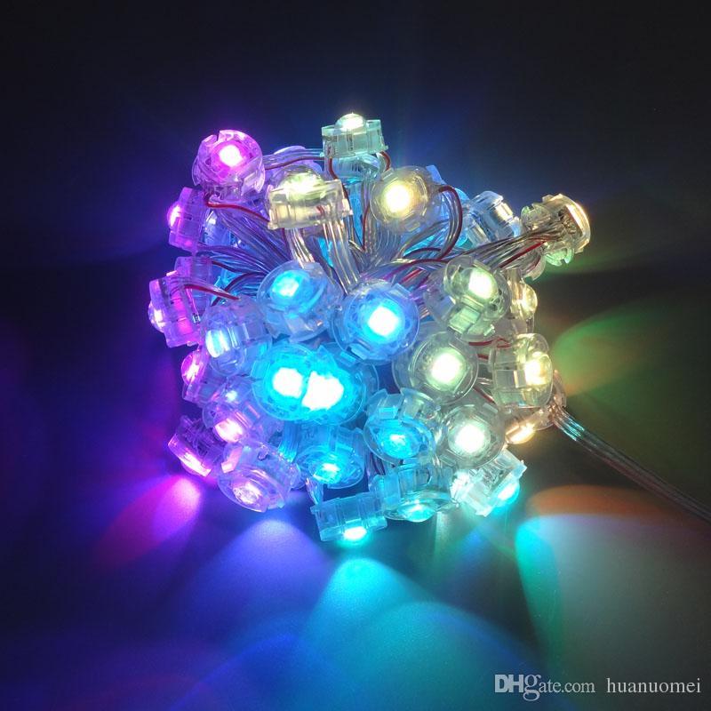адресация 20ммы модуль LED RGB пиксель свет SM16703, цифровая полноцветный 5050 аттракционов огни, 50modules / строка, DC5V вход, водонепроницаемый IP68