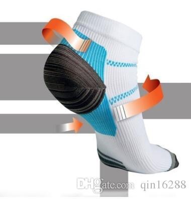 2018 الجوارب المضغوطة لل أخمصي اللفافة وتحفيز قوس الألم العرق رائحة التهوية الجوارب حماية القدم سريع dhl