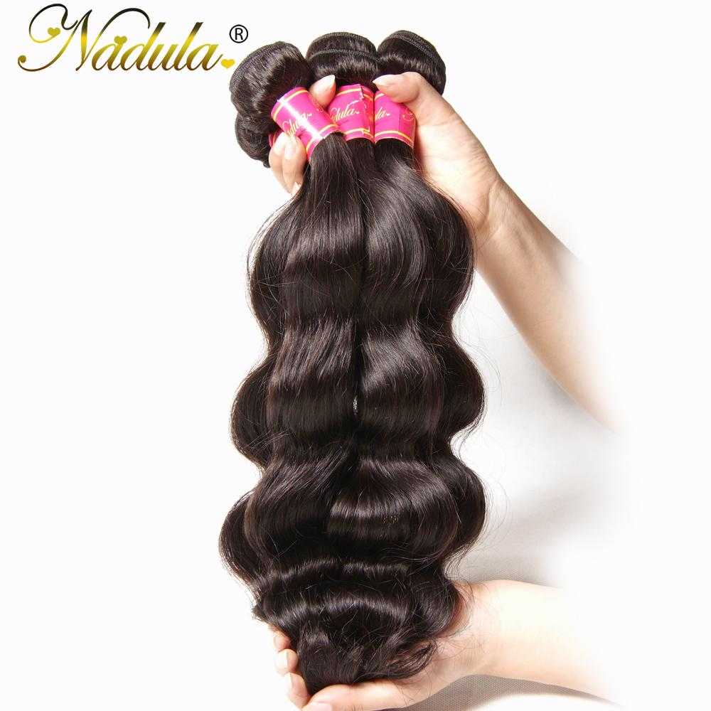 Nadula Hair Brazilian Body Wave Hair 100% Human Weaves Can Mix Bundles Length Non Remy Weft 8-30inch Natural Color