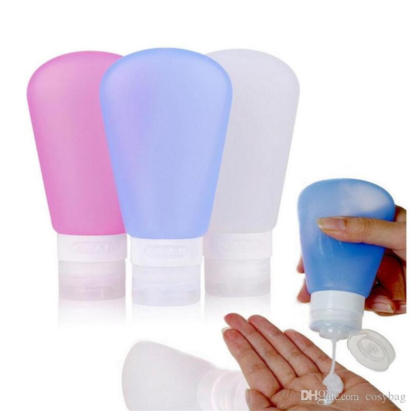 3oz/ 2oz /1.25oz Silicone Empty Portable Travel Squeeze Cosmetic Containers Cream Lotion Plastic Bottles 078