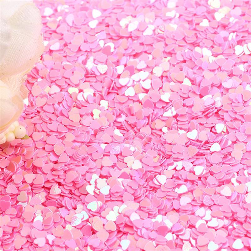 500g 3 MM Tiny Sparkle Herz Hochzeit Confetti Nail Pailletten Flocken Art Glitter Dekorationen Tischdekoration Party Decor